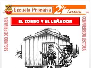 Modelo de la Ficha de El Zorro y El Leñador para Segundo de Primaria