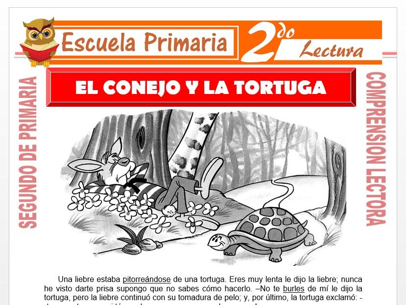 Modelo de la Ficha de El conejo y la Tortuga para Segundo de Primaria