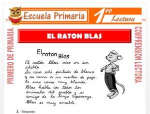 Modelo de la Ficha de El Ratón Blas para Primero de Primaria