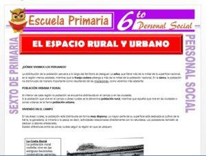 Modelo de la Ficha de Espacio Rural y Urbano para Sexto de Primaria