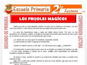 Modelo de la Ficha de Juanito y los Frijoles Mágicos para Segundo de Primaria