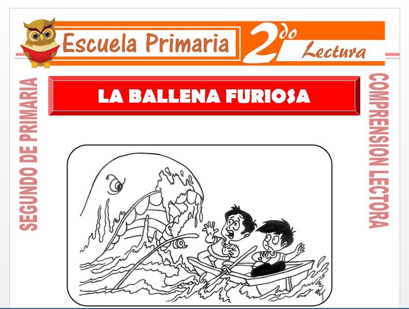 Modelo de la Ficha de La Ballena Furiosa para Segundo de Primaria