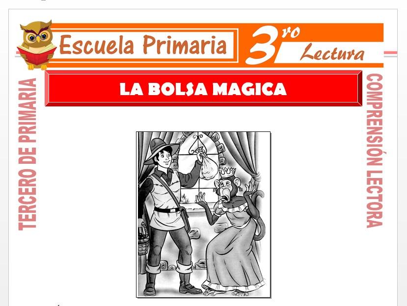 Modelo de la Ficha de La Bolsa Mágica para Tercero de Primaria