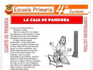 Modelo de la Ficha de La Caja de Pandora para Cuarto de Primaria