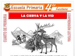 Modelo de la Ficha de La Cierva y la Vid para Cuarto de Primaria