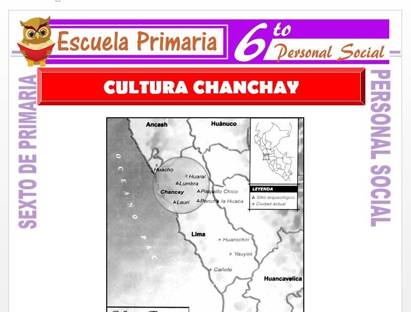Modelo de la Ficha de La Cultura Chanchay    para Sexto de Primaria