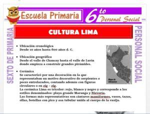 Modelo de la Ficha de La Cultura Lima para Sexto de Primaria