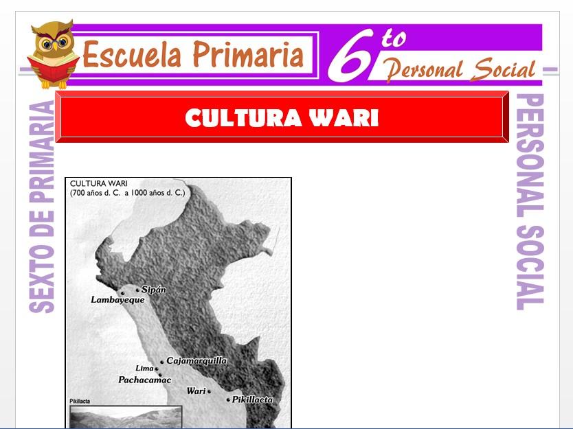 Modelo de la Ficha de La Cultura Wari    para Sexto de Primaria