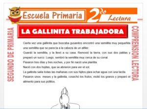 Modelo de la Ficha de La Gallinita Trabajadora para Segundo de Primaria
