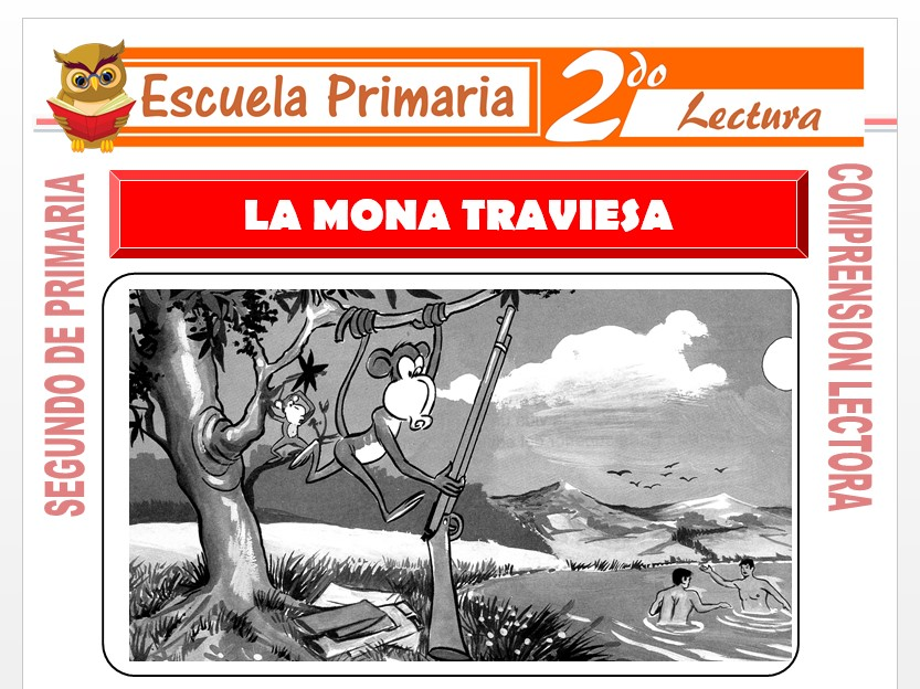 Modelo de la Ficha de La Mona Traviesa para Segundo de Primaria