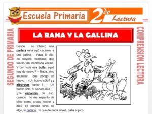 Modelo de la Ficha de La Rana y La Gallina para Segundo de Primaria