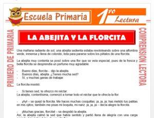 Modelo de la Ficha de La abejita y la florcita para Primero de Primaria