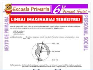 Modelo de la Ficha de Líneas Imaginarias Terrestres para Sexto de Primaria