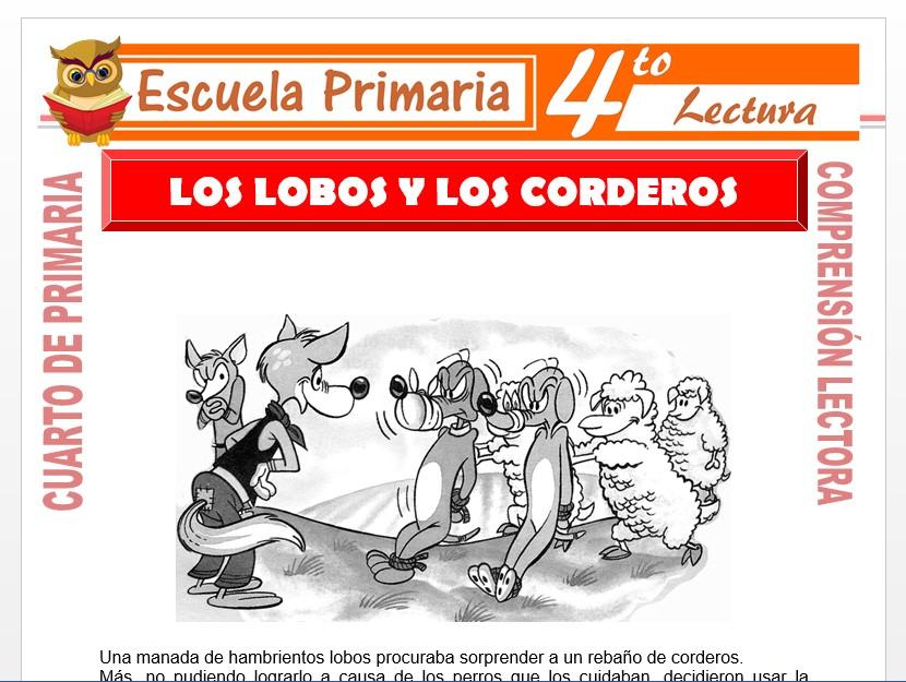 Modelo de la Ficha de Los Lobos y Los Corderos para Cuarto de Primaria