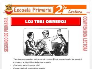 Modelo de la Ficha de Los Tres Obreros para Segundo de Primaria