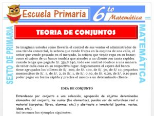 Modelo de la Ficha de Noción de Teoría de Conjuntos para Sexto de Primaria
