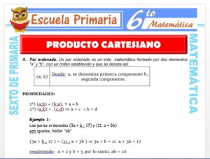 Modelo de la Ficha de Propiedades del Producto Cartesiano para Sexto de Primaria