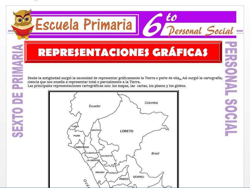 Modelo de la Ficha de Representaciones Graficas  para Sexto de Primaria