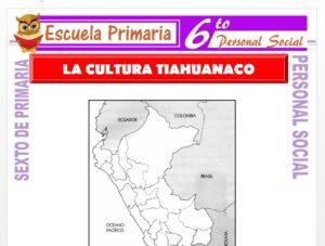 Modelo de la Ficha de Tiahuanaco y su Cultura para Sexto de Primaria