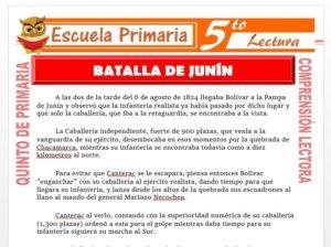 Modelo de la Ficha de Batalla de Junin para Quinto de Primaria