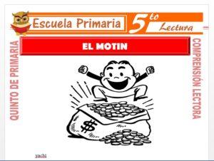 Modelo de la Ficha de El Motin para Quinto de Primaria