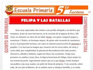 Modelo de la Ficha de Felipa y Las Batallas para Quinto de Primaria