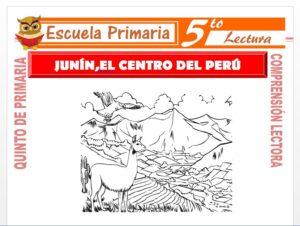 Modelo de la Ficha de Junin El Centro del Perú para Quinto de Primaria