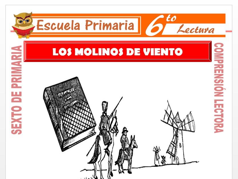 Modelo de la Ficha de La Aventura de los Molinos de Viento para Sexto de Primaria