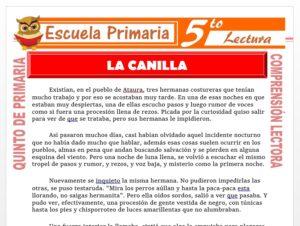 Modelo de la Ficha de La Canilla para Quinto de Primaria