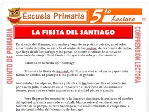 Modelo de la Ficha de La Fiesta del Santiago para Quinto de Primaria