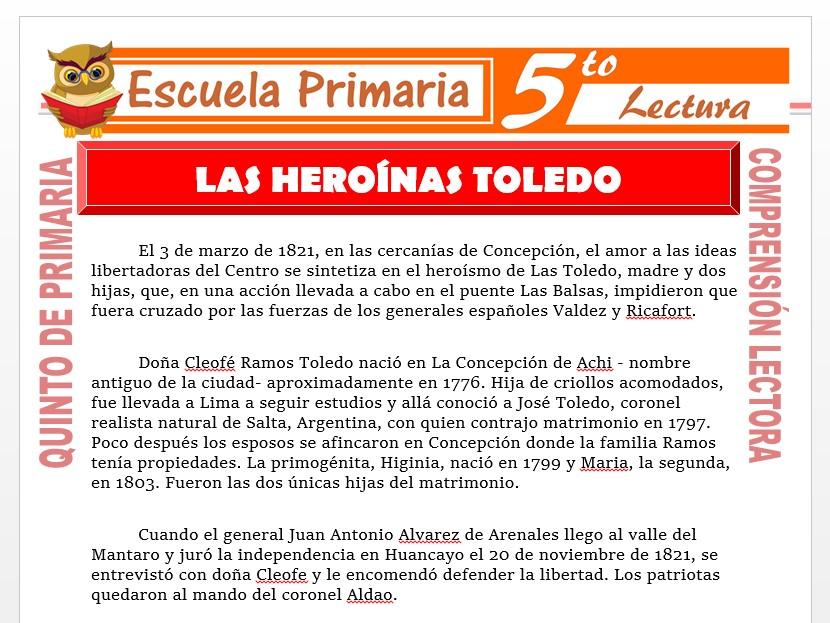 Modelo de la Ficha de Las Heroinas Toledo para Quinto de Primaria