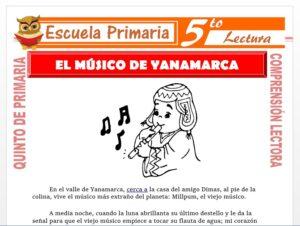 Modelo de la Ficha de Millpum,El Musico de Yanamarca para Quinto de Primaria