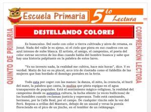 Modelo de la Ficha de Un Huanca Destellando Colores para Quinto de Primaria