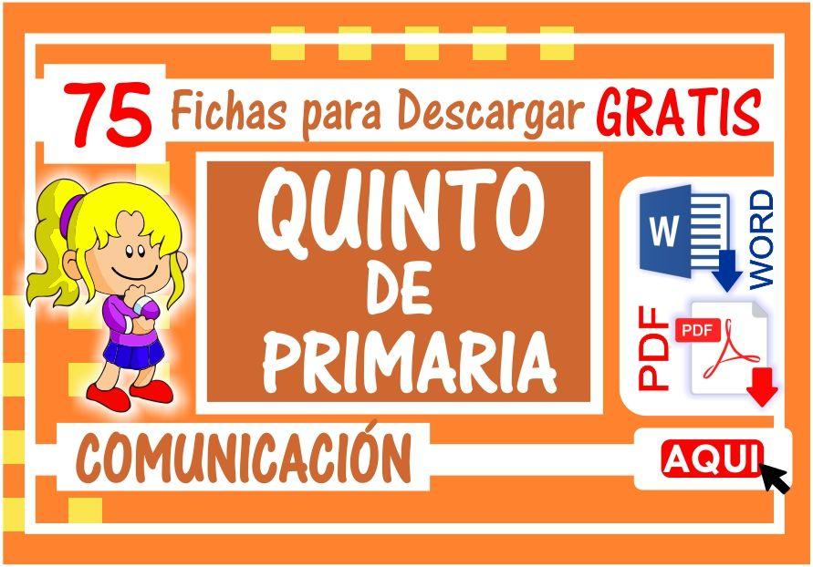 Comunicación para Quinto de Primaria
