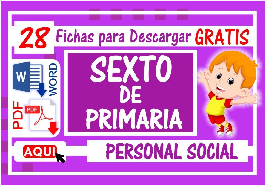 Personal Social para Sexto de Primaria