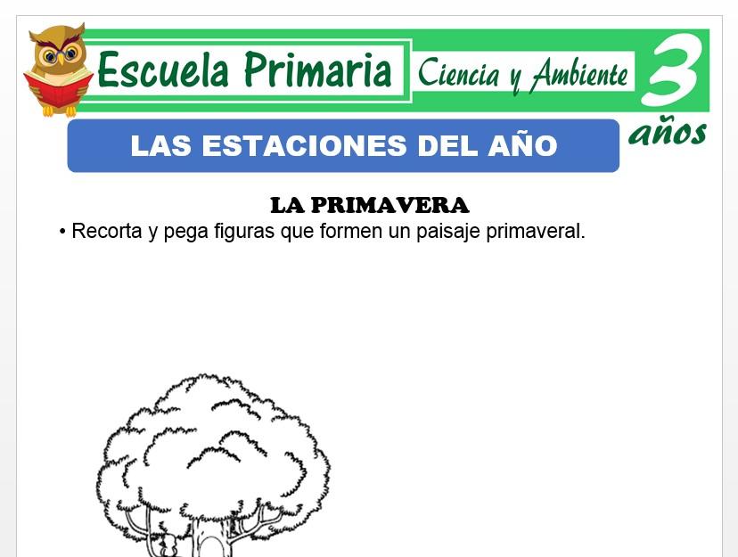 Modelo de la Ficha de Las estaciones para Niños de 3 Años