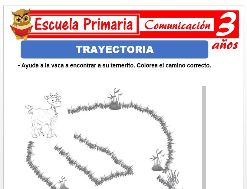 Modelo de la Ficha de Trayectoria para Niños de 3 Años