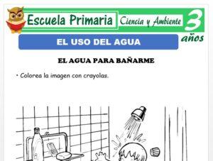 Modelo de la Ficha de Uso del agua para Niños de 3 Años