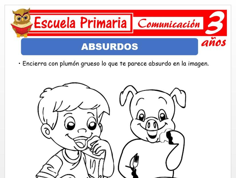 Modelo de la Ficha de Absurdos para Niños de 3
