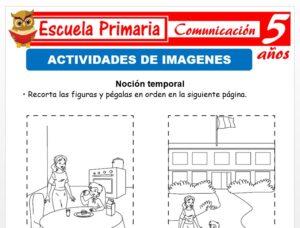 Modelo de la Ficha de Actividades de interpretación de imágenes para Niños de 5 Años