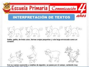 Actividades de interpretaciòn de textos para Niños de 4 Años