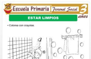 Modelo de la Ficha de Aseo personal para Niños de 3 Años