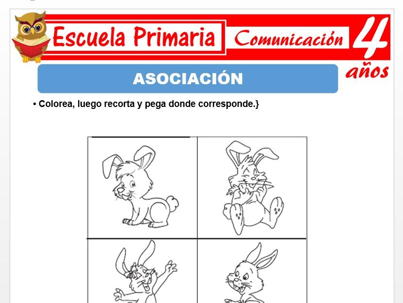 Modelo de la Ficha de Asociaciòn para Niños de 4 Años