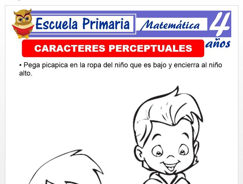 Modelo de la Ficha de Caracteres perceptuales para Niños de 4 Años