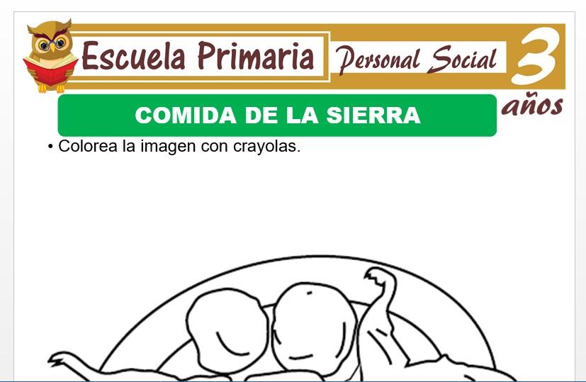 Modelo de la Ficha de Comida de la sierra para Niños de 3 Años
