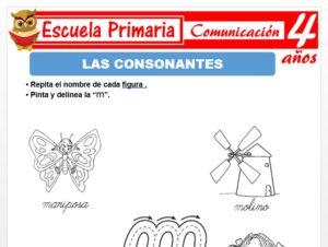 Modelo de la Ficha de Consonantes para Niños de 4 Años