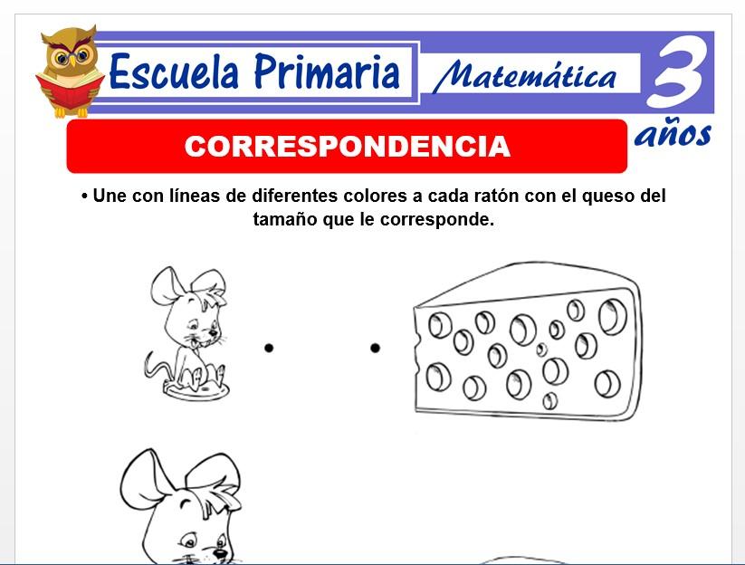 Modelo de la Ficha de Correspondencia para Niños de 3 Años