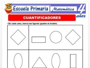 Modelo de la Ficha de Cuantificadores para Niños de 4 Años
