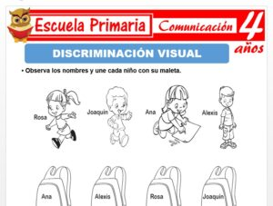 Modelo de la Ficha de Discriminación visual para Niños de 4 Años
