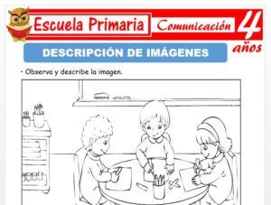 Modelo de la Ficha de Descripción de imagines para Niños de 4 Años